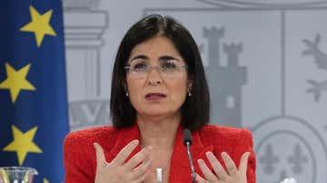 La ministra de Sanidad, Carolina Darias, comparece en rueda de prensa tras la reunión del Consejo Interterritorial del Sistema Nacional de Salud.