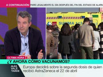 """El doctor Carballo, contrario a que los vacunados con AstraZeneca reciban una segunda dosis de otra vacuna: """"No hay datos sobre eso"""""""