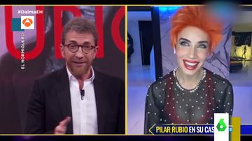 El espectacular look de Pilar Rubio en su conexión desde casa para El Hormiguero