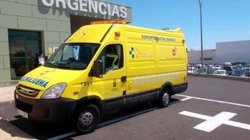 Imagen de archivo de una ambulancia del Servicio de Urgencias Canario (SUC)
