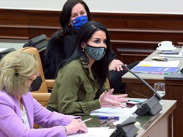 Bronca en la Comisión de Igualdad entre una diputada de Vox y una del PSOE