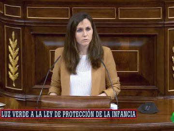 Ione Belarra, ministra de Derechos Sociales y Agenda 2030, en el  Congreso