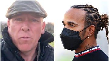 El granjero Gareth Wyn Jones y Lewis Hamilton