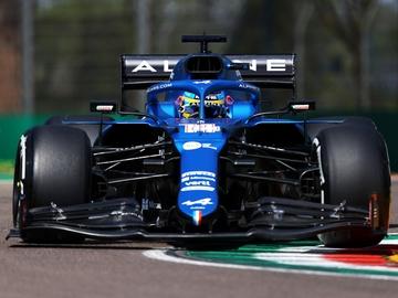 Alonso, en el Alpine
