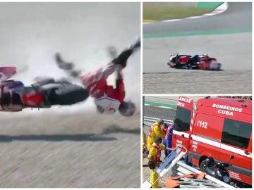 Brutal accidente de Jorge Matín