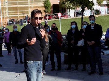 Íñigo Errejón en un acto de campaña en Arganda del Rey