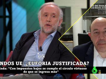 Eduardo Inda y Gonzalo Bernardos en laSexta Noche