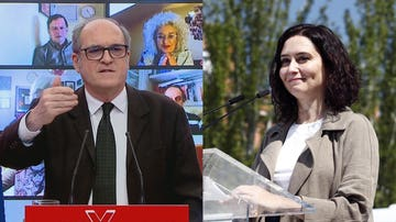Ángel Gabilondo e Isabel Díaz Ayusos el primer día de campaña