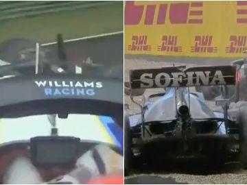 Accidente entre Valtteri Bottas y George Russell en el GP de la Emilia-Romagna