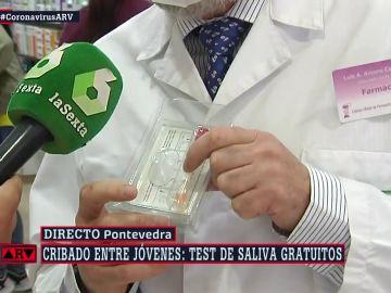 El test de saliva disponible en las farmacias de Galicia.