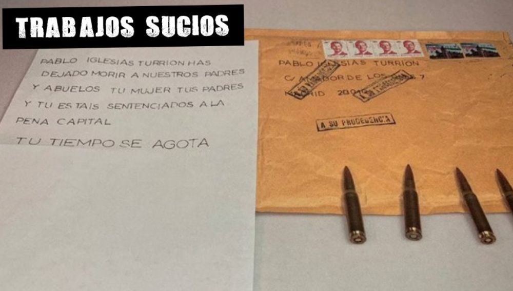 Imagen de la carta recibida por Pablo Iglesias