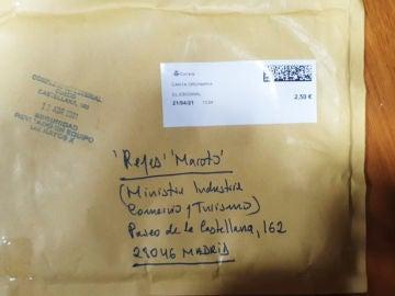 (26-04-21) La Policía identifica al hombre que envió la carta amenazante con la navaja a Reyes Maroto