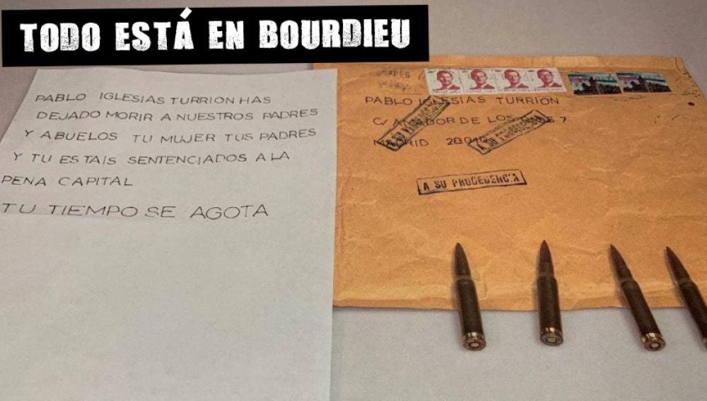 La amenaza enviada a Pablo Iglesias