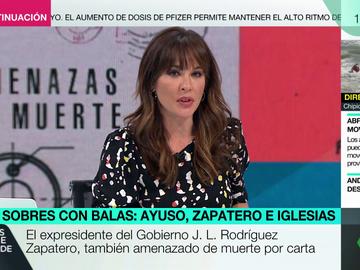 """Más Vale Tarde (28-04-21) Mamen Mendizábal desvela que también recibe cartas amenazantes de """"locos"""" y aclara: """"Esto no tiene que ver con la enfermedad mental"""""""