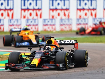 Verstappen, Norris y Leclerc en el Gran Premio de la Emila-Romagna