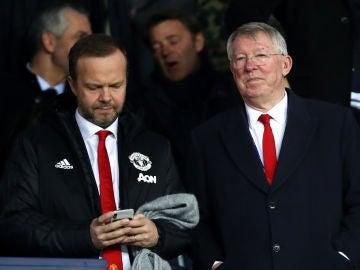 Ed Woodward y Sir Alex Ferguson