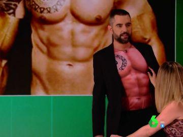 """El sensual momento en el que Valeria Ros le toca el pezón a Dani Mateo: """"¡Uy, me habéis pillado sin camiseta!"""""""