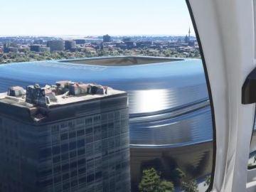 Simulación aérea del nuevo Santiago Bernabéu