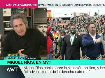 """Miguel Ríos lamenta el """"advenimiento de la derecha extrema"""": """"Esa derecha estaba escondida tras 40 años de masacrar a la izquierda"""""""