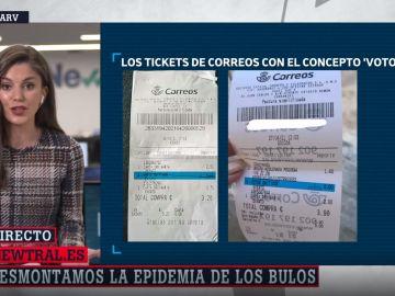 No, Correos no está manipulando la votación del 4M: el bulo sobre unos supuestos tickets con votos emitidos