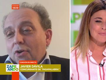 El concursante de Pasapalabra Javier Dávila se atreve a cantar 'Una vaca lechera' en latín en pleno directo de Zapeando