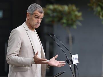 Toni Cantó durante un acto electoral en Madrid