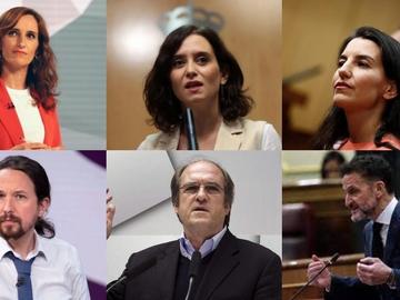 Los seis candidatos a las elecciones madrileñas del 4M