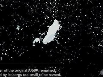 Restos del iceberg gigante A68