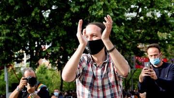 Imagen de Pablo Iglesias en un acto electoral