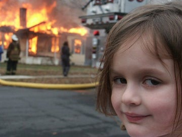 La foto que originó el meme de 'Disaster Girl'