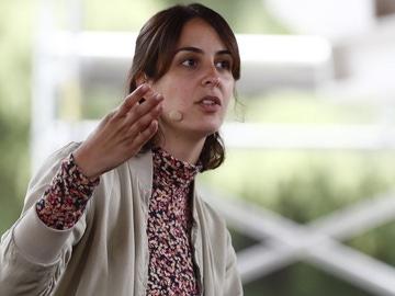 Rita Maestre en un acto de Más Madrid