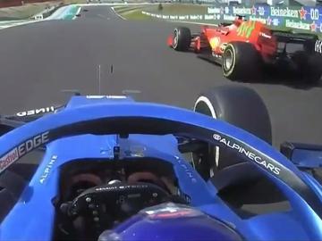 Fernando Alonso adelanta a Carlos Sainz