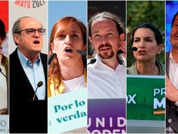 Los candidatos a la presidencia de la Comunidad de Madrid en las elecciones del 4 de mayo