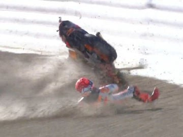 Márquez, al suelo en Jerez