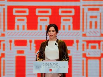 Isabel Díaz Ayuso, en los actos del 2 de mayo