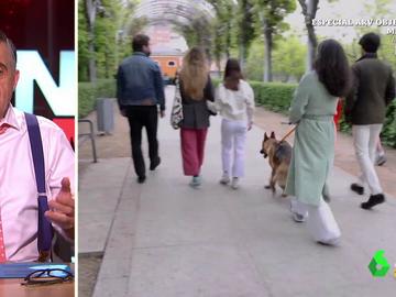 """La reacción de Wyoming al ver el paseo de Monasterio con su perro: """"¡Mirad cómo tira, parece que le pasea él a ella!"""""""