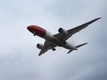 Un avión de la aerolínea noruega Norwegian