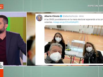 """La foto de Alberto Chicote en la mesa electoral que divierte a los zapeadores: """"No se van a aburrir en esa mesa"""""""