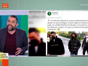 La reacción de Dani Mateo al tuit viral de laSexta sobre Marcelo, una señora y la mesa electoral