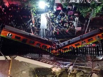 Al menos 15 muertos y 70 heridos tras hundirse un tramo de metro en Ciudad de México