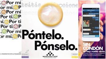 Diferentes campañas públicas de promoción de las infecciones de transmisión sexual.