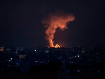 Imagen de los bombardeos en Gaza