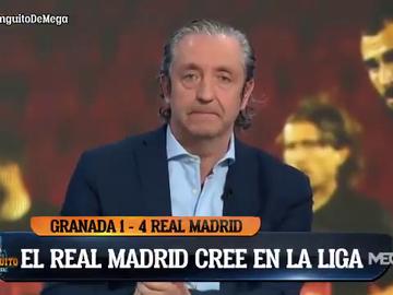 """Enfado de Pedrerol tras el arbitraje del Granada-Real Madrid: """"No se debe permitir la violencia"""""""