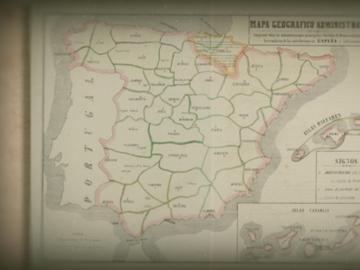 Mapa de provincias de comienzos del siglo XIX