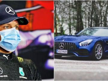 Valtteri Bottas y su Mercedes AMG GT S