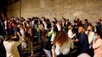Imagen del Fossar de les Moreres en el barrio del Born en Barcelona el pasado 9 de mayo