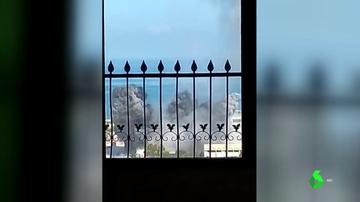 Vistas de los bombardeos en Gaza