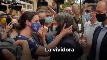 Tensión en el acto de Irene Montero y Mónica Oltra en Valencia
