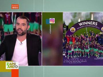 """El homenaje de Dani Mateo al Barça femenino tras conseguir su primera Champions: """"Qué barbaridad cómo juegan, hay que apoyarlas"""""""