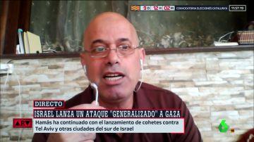 El estruendo de un bombardeo en Gaza se cuela en pleno directo